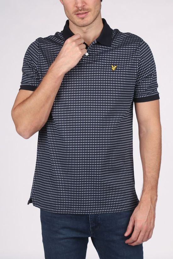 Lyle & Scott Polo Sp1414 Dark Blue/Ass. Geometric