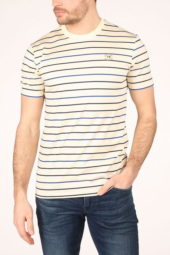 Scotch & Soda T-Shirt 162459 Ecru/Donkerblauw
