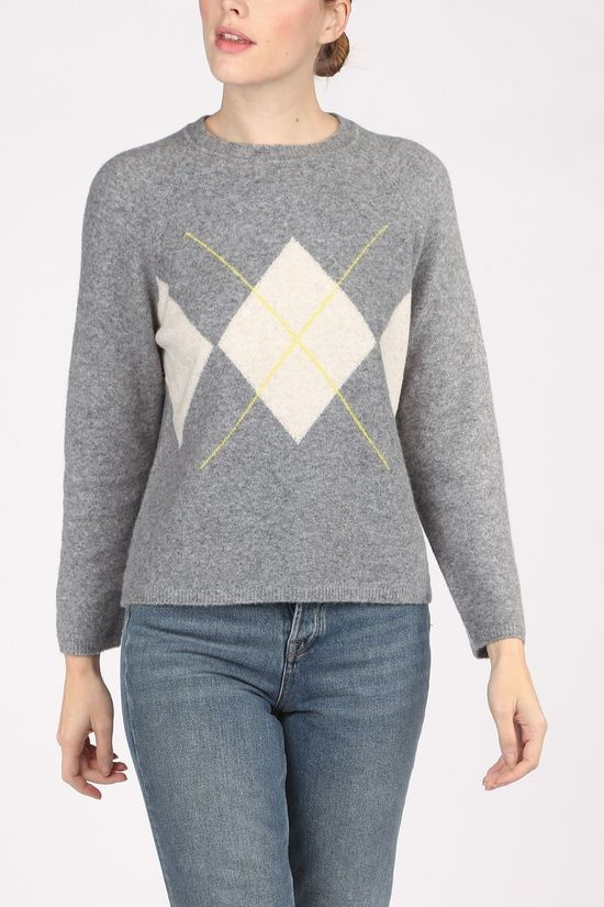 Yerse Pullover 33565 Light Grey Marle/Yellow