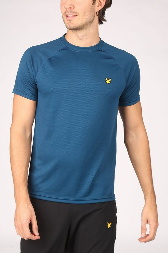 Lyle & Scott T-Shirt Performance Seamless Blauw