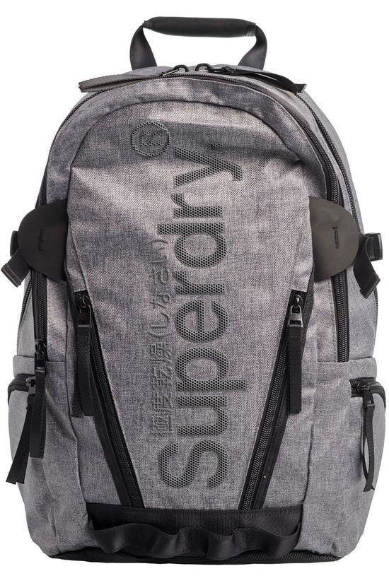 Superdry Daypack Coated Marl Tarp light grey/black