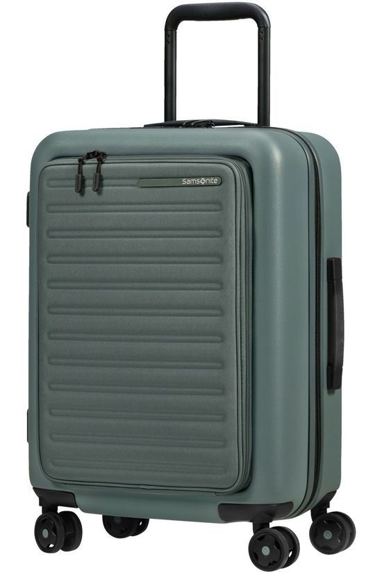 Samsonite Cabin Luggage Stackd Spinner 55 Exp Easy Access dark green