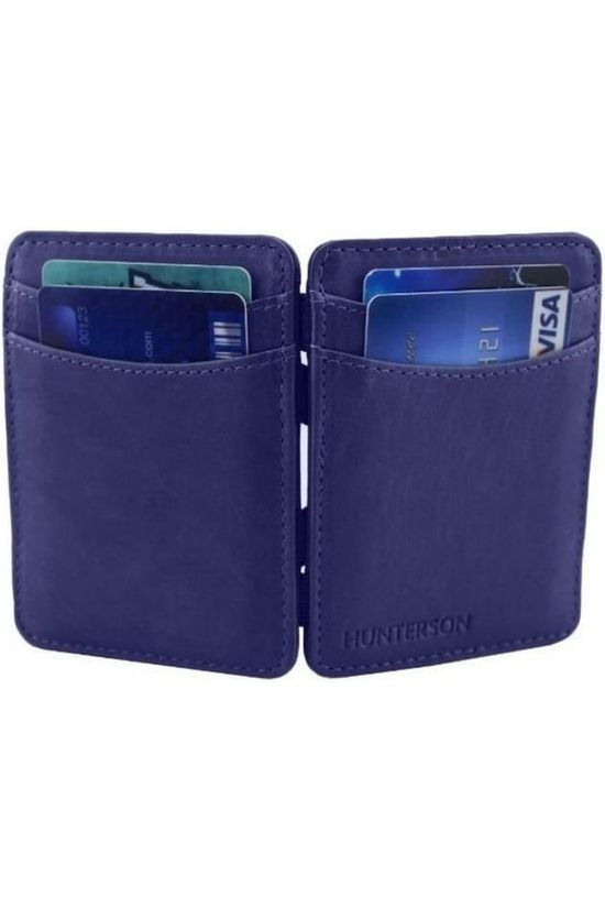 Hunterson Portefeuille Leather RFID Magic Wallet Bleu Moyen