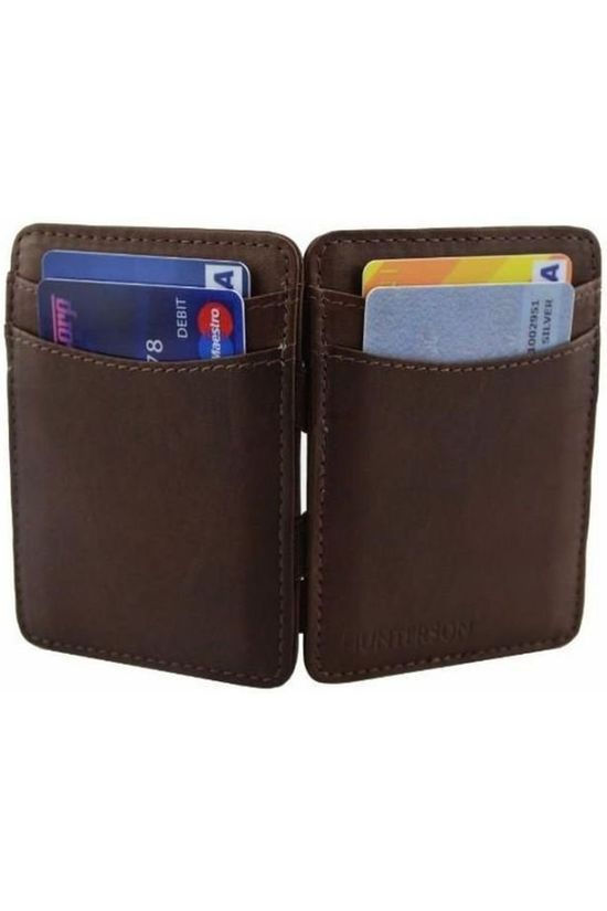 Hunterson Wallet Leather RFID Magic Wallet  brown