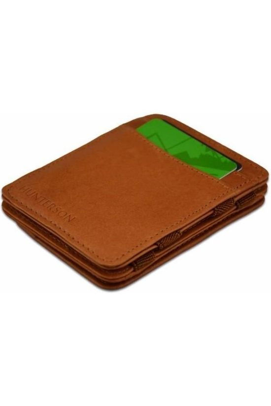 Hunterson Portefeuille Leather RFID Magic Coin Wallet Marron Chameau