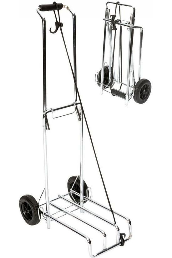 Bo-Camp Miscellaneous Bagagetrolley Inklapbaar 40 Kg silver