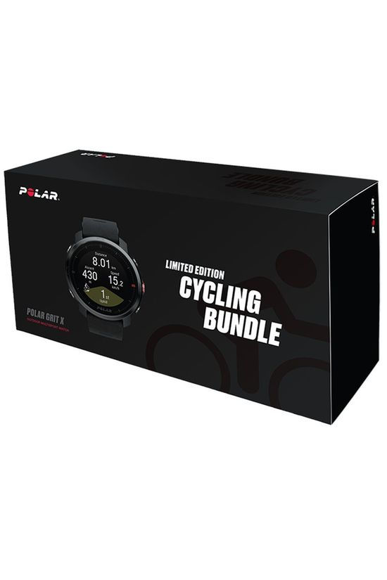 Polar Gps Grit X Blk M/L Cycling Bundle Noir