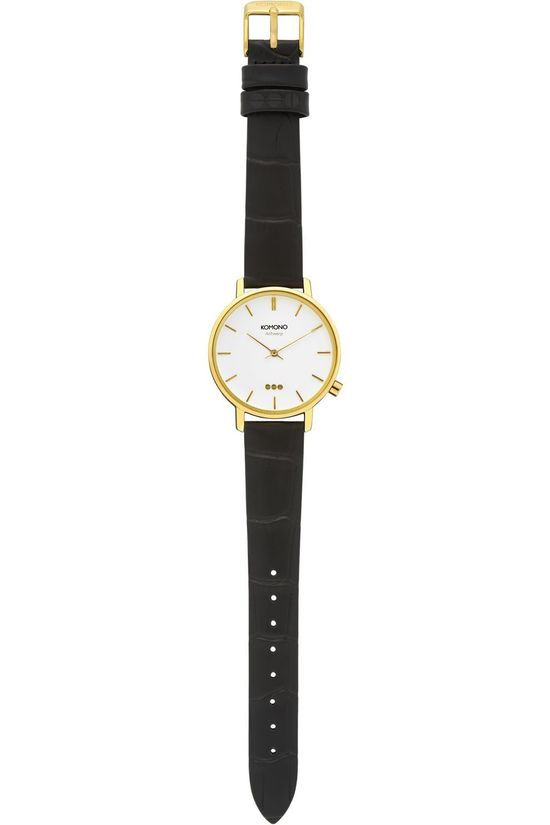 Komono Watch Harlow Croco black/gold