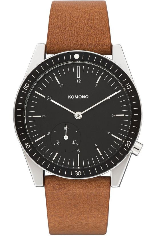 Komono Montre Ray Legacy Leather Brun moyen/Noir