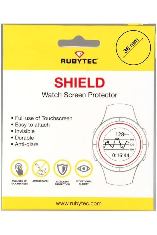 Rubytec Miscellaneous  Shield 36 mm Watch Screen Protector No colour / Transparent