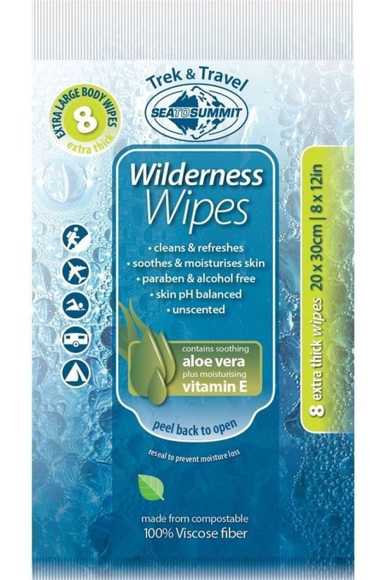 Sea To Summit Pers Hyg Wilderness Wipes Xl Geen kleur / Transparant