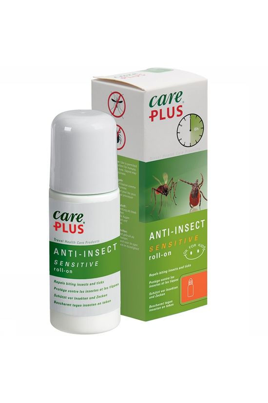 Care Plus Insectenwering Roll-on Sensitive Icaridine 20% 50ml Geen kleur / Transparant