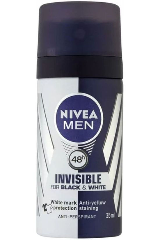 Nivea Pers Hyg Deo Men Travel Size B/W 100ML No colour / Transparent
