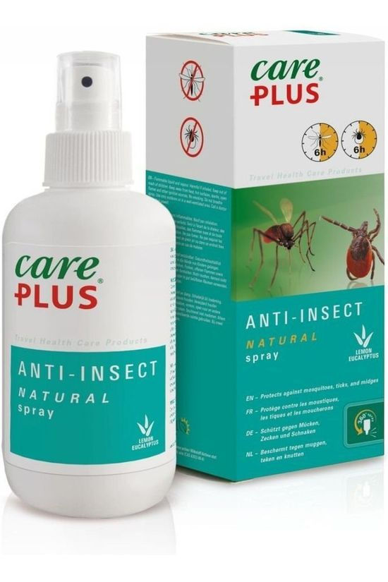 Care Plus Insectenwering Natural Spray 200Ml Geen kleur / Transparant