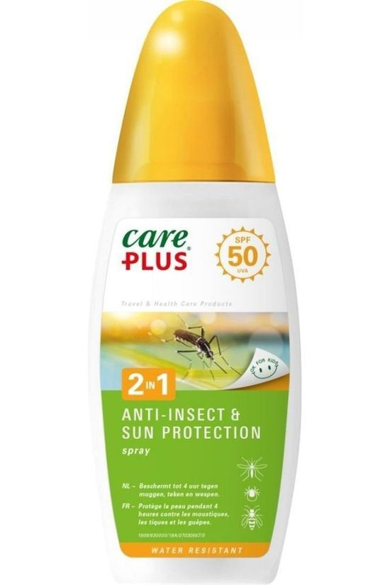 Care Plus Insectenwering: 2 in 1 Anti-Insect Sun Prot. Spray SPF50 150ml Geen kleur / Transparant