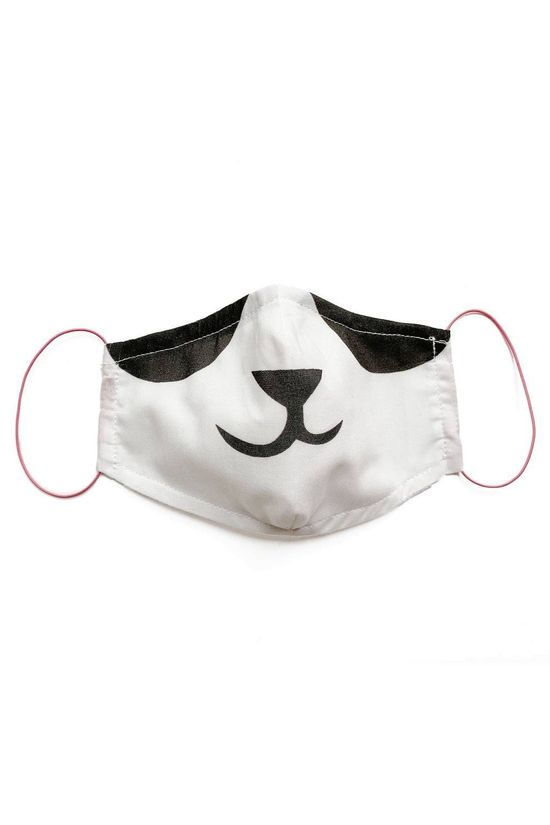 Pleased to Meet Mondmasker Panda Mask S Wit/Zwart