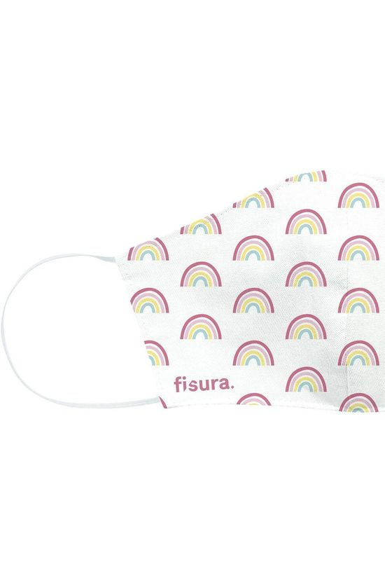FIS Face Mask Adults Rainbow Mask Off White/Ass. Rainbow