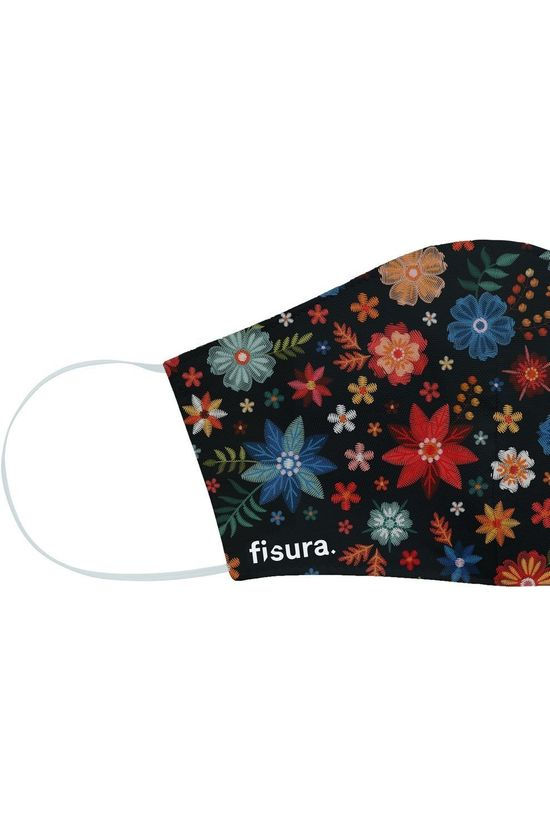 Fisura Mondmasker Adults Embroided Flowers Zwart/Assorti / Gemengd