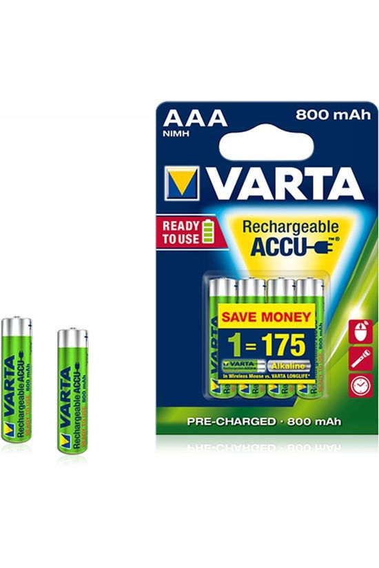 Varta Battery AAA 4-Pack R2U 800Mah Micro No colour / Transparent