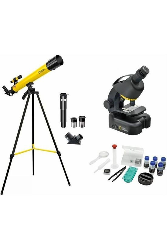 National Geographic Telescoop + Microscope Set Zwart/Middengeel