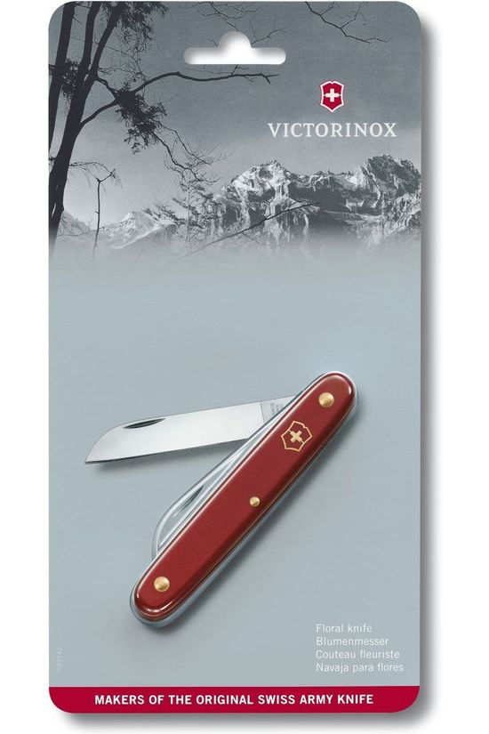 Victorinox Mes Floral Knife 55mm Middenrood
