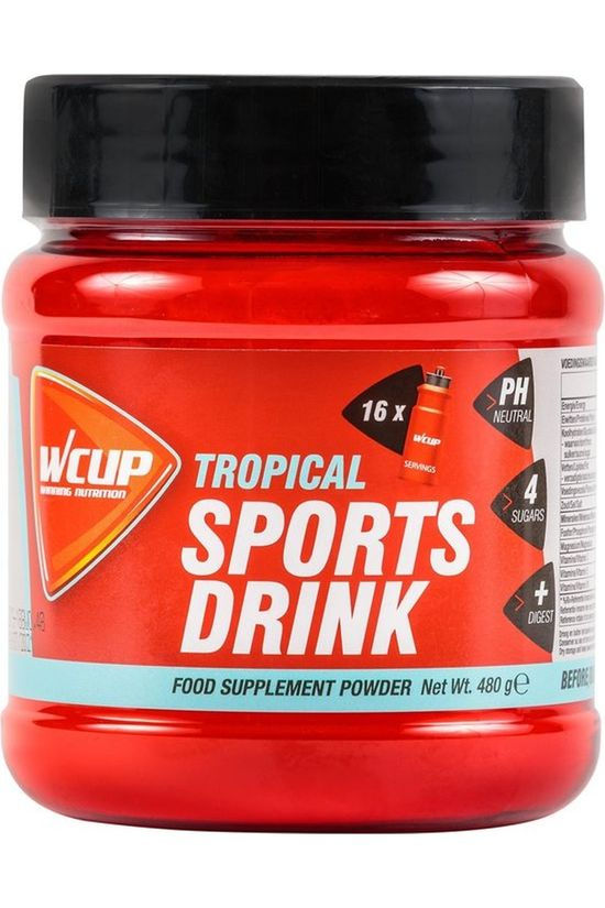 Wcup Poeder Sport Drank Tropical 480g Geen kleur / Transparant