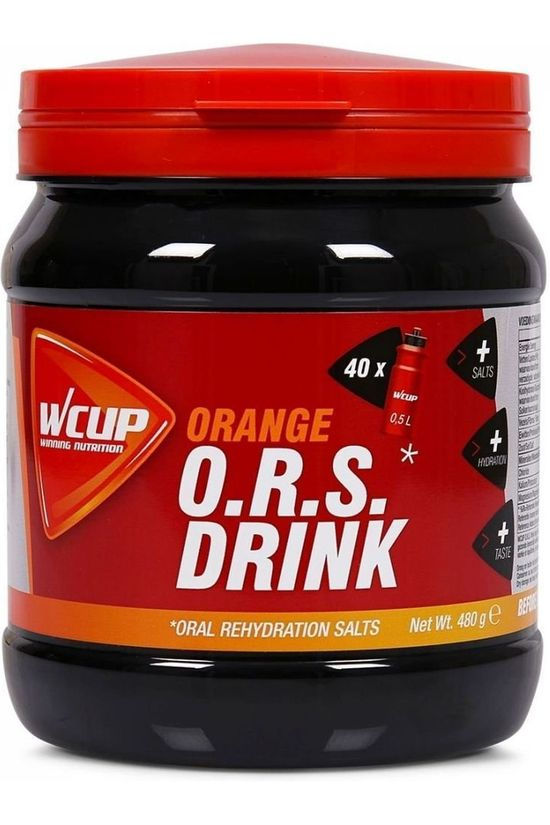 Wcup Powder Sports Drink ORS Orange 480g No colour / Transparent