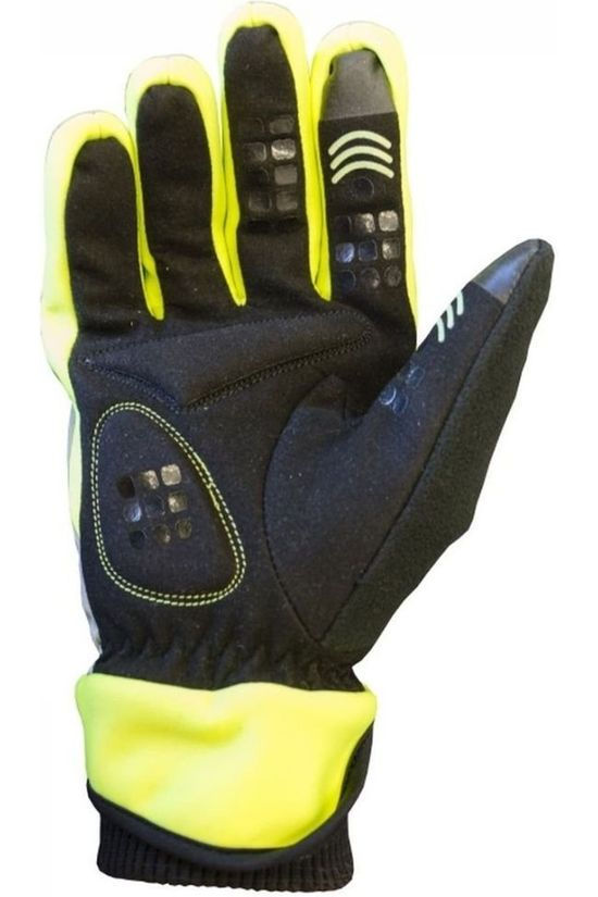 Wowow Reflective Material Dark Gloves 4.0 black/light yellow