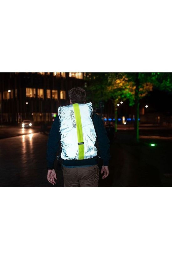 Wowow Reflective Bag Cover Urban Hero FR 30L light grey/light yellow