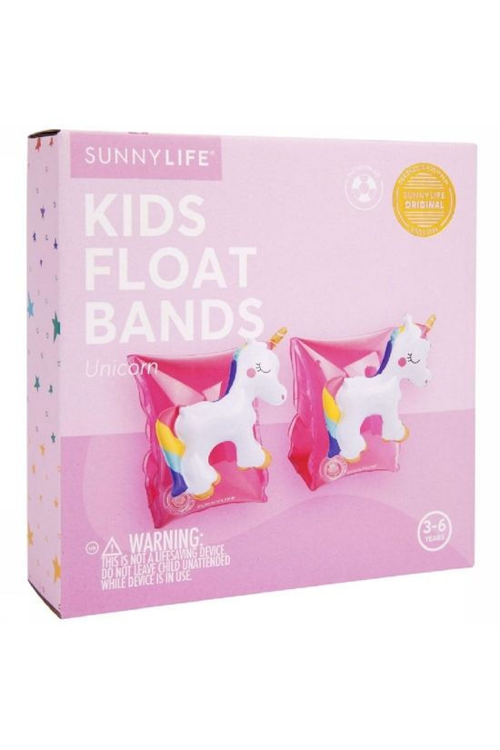 Sunnylife Jouets Float Bands Unicorn Rose Moyen/Blanc