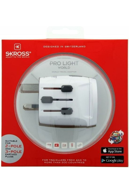 S-Kross Wereldstekker Pro Light World Adapter Geen kleur / Transparant