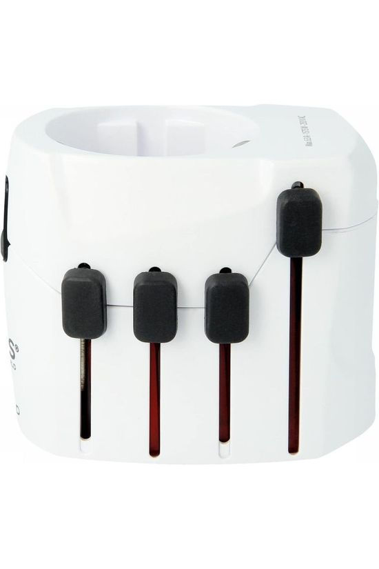 S-Kross World Adapter Reisstekker World Travel Adapter Pro (Z. Schuko Stekker) No colour / Transparent