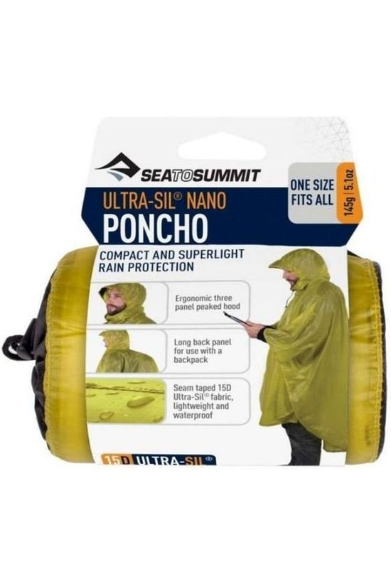 Sea To Summit Poncho Ultra Sil Nano Poncho Lime Green