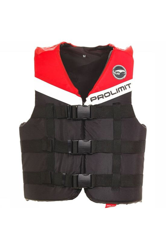 Prolimit Sup Acc Lifevest Nylon 3-Buckle black/mid red