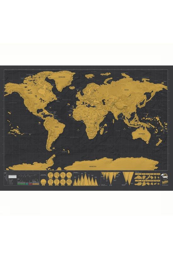Luckies Gadget Scratch Map Deluxe No colour / Transparent