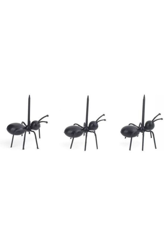 Kikkerland Gadget Worker Ant Party Picks Set Of 20 black