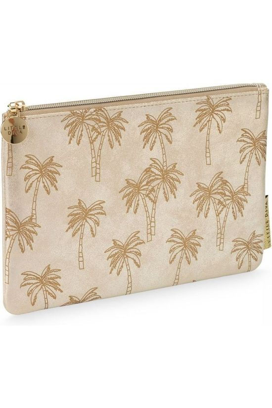 Little Diva Pencil Case Flat Palmtree Geen kleur / Transparant