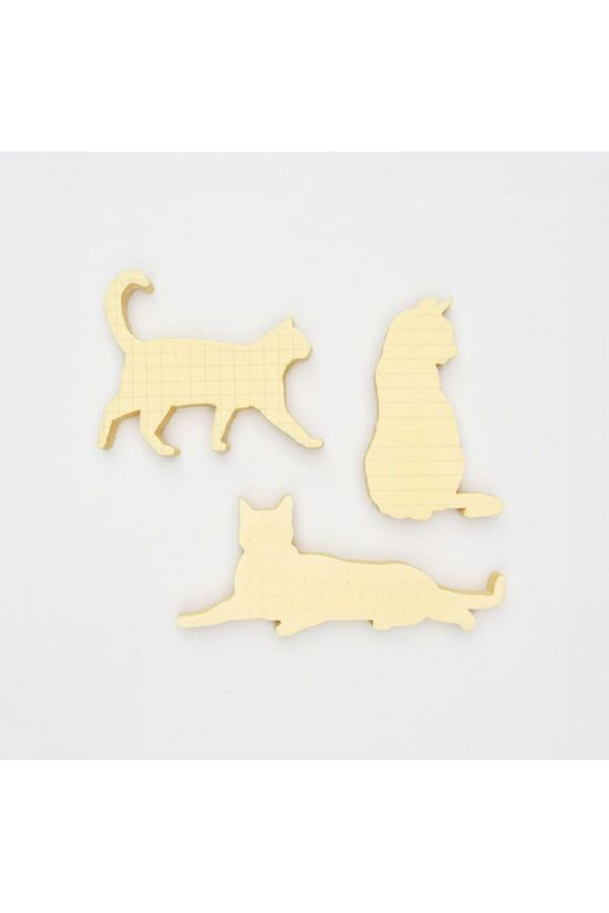 Good Design Works Gadget Cat Sticky Notes light yellow