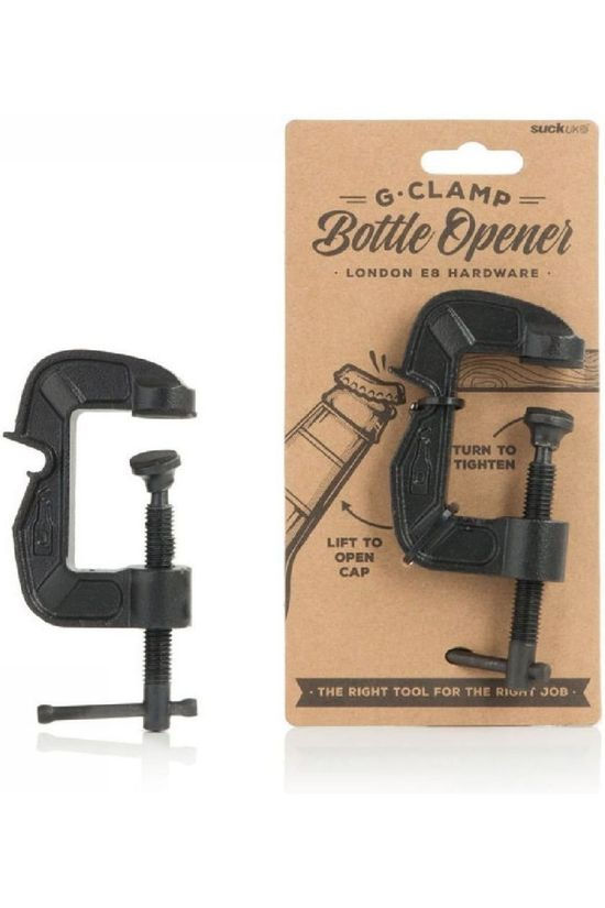 Suck UK Gadget G-Clamp Flesopener Zwart