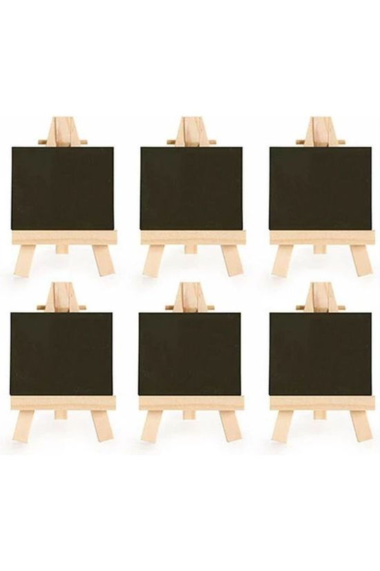 Kikkerland Mini Easel Place Cards black/light brown