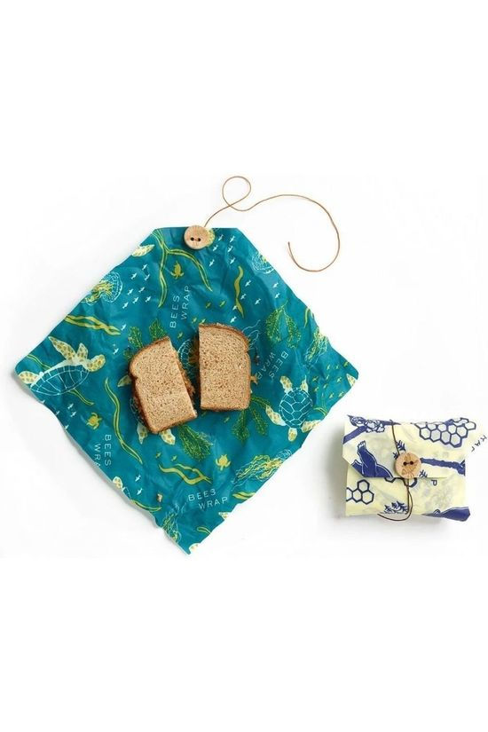 Bee's Wrap Sandwich Wraps Wildlife 2-pack Geen kleur / Transparant
