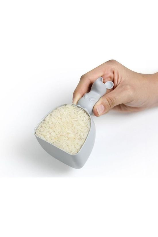 Qualy Gadget Lucky Mouse Rice Scoop Gris Clair
