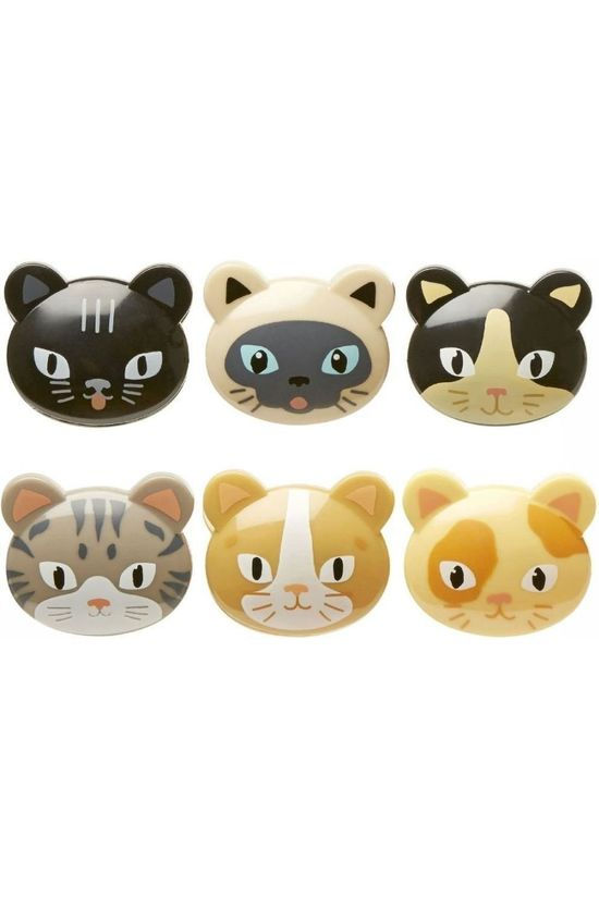 Kikkerland Gadget Cat Bag Clips No colour / Transparent