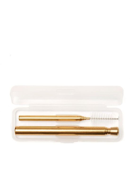 Kikkerland Gadget Copper Travel Straw Set copper