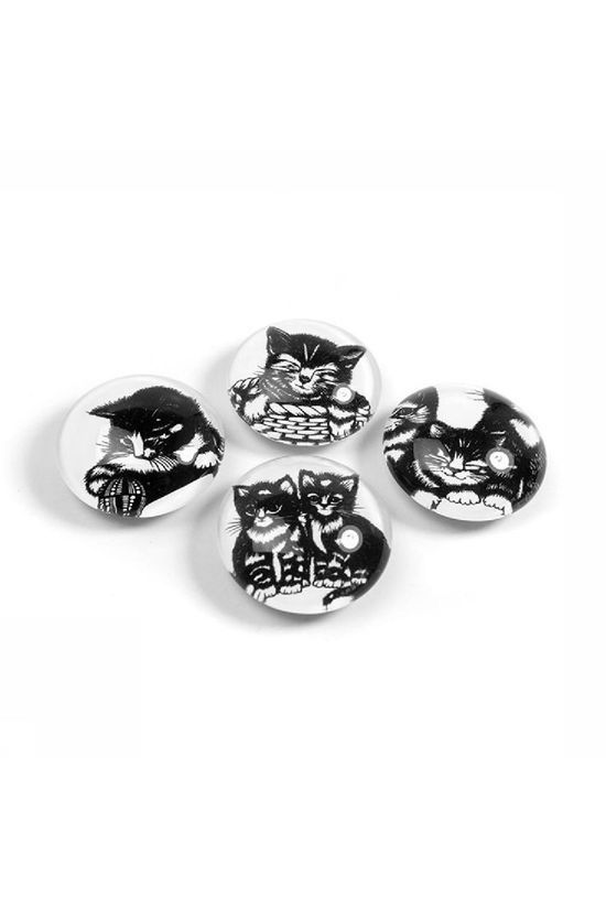 Trendform Gadget Eye Swiss Kitty Magnets white/black