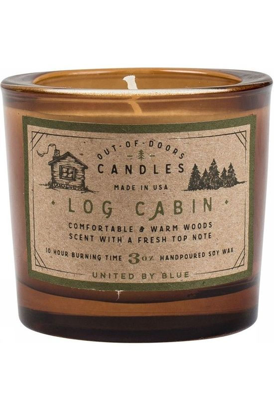 United by Blue Gadget Log Cabin Out Of Doors Bougie 3Oz Brun moyen