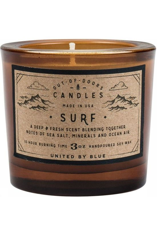 United by Blue Gadget Surf Out Of Doors Candle 3Oz mid brown