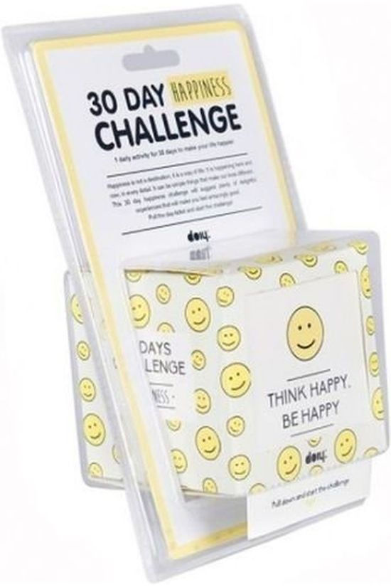 Doiy Gadget 30 Day Happiness Challenge Wit/Middengeel