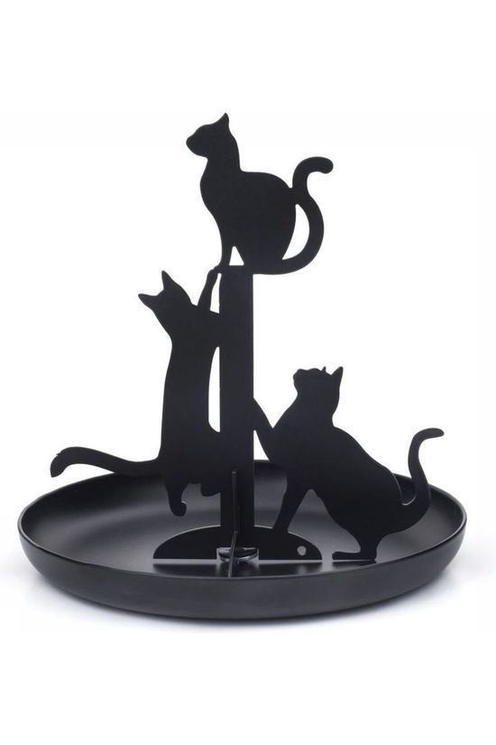 Kikkerland Gadget Black Cats Jewelry Holder black
