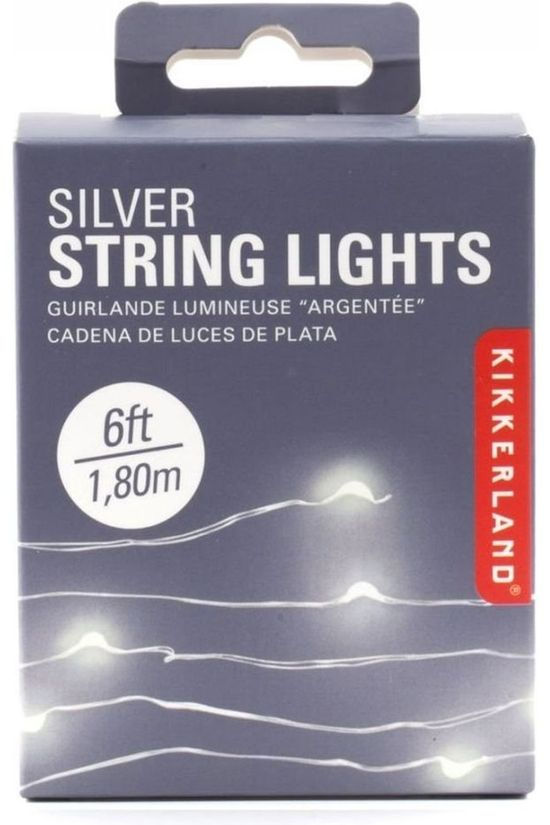Kikkerland Silver String Lights Zilver
